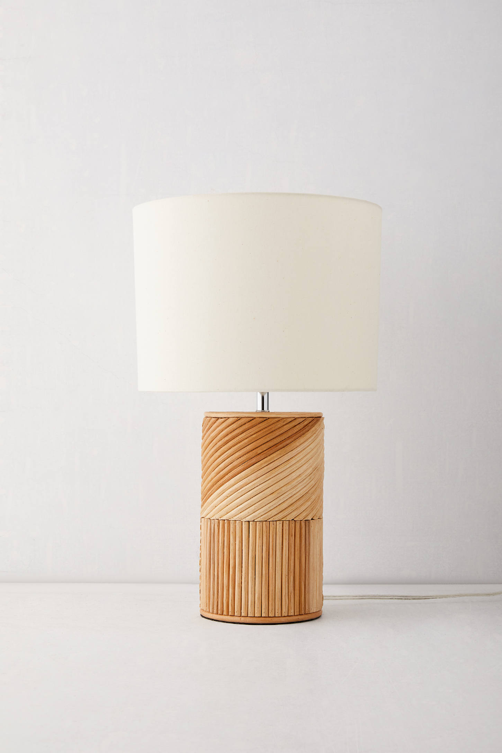 Ria Rattan Table Lamp In 2020 With Images Boho Table Lamps