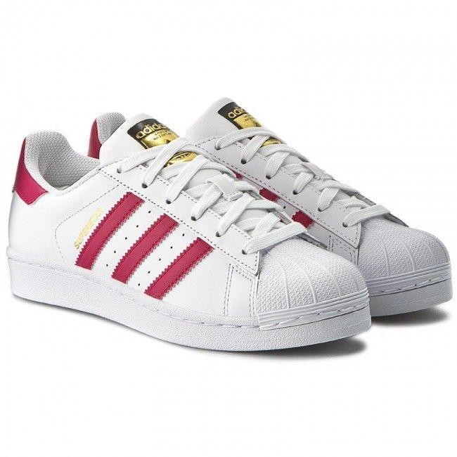 2ba4b0670 Buty adidas - Superstar Foundation J B23644 Ftwwht/Bopink/Ftwwht -  Sneakersy - Półbuty - Damskie - www.eobuwie.com.pl