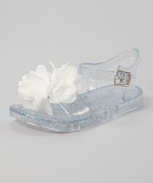 eda963da5c43 Look what I found on  zulily! Stepping Stones White Flower Jelly Sandal by Stepping  Stones  zulilyfinds