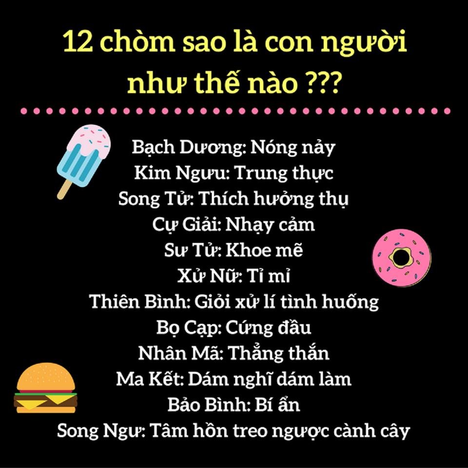 Đặc trưng tính cách của 12 cung hoàng đạo Ad là người thích hưởng thụ. Còn  bạn là gì???