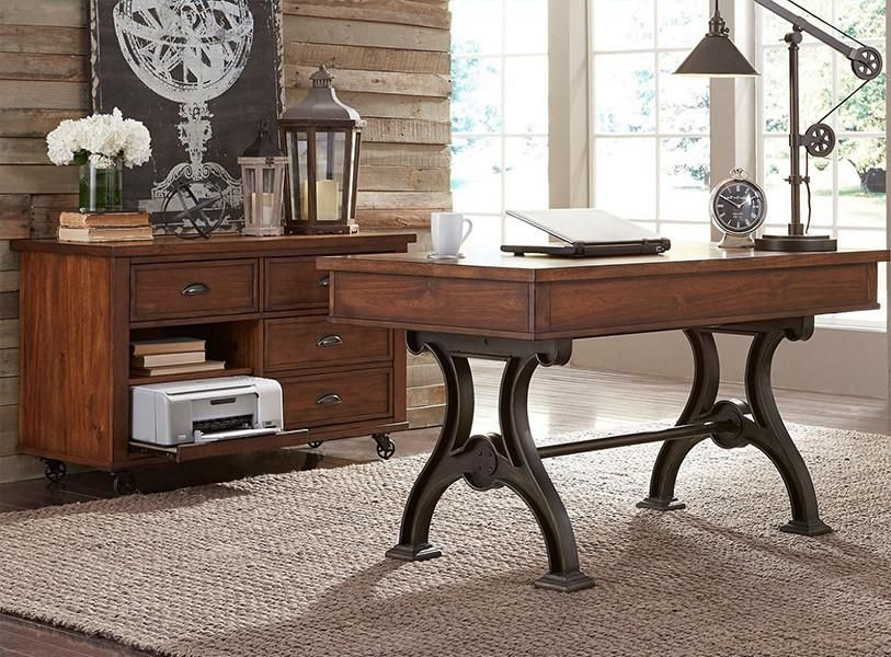 Tredegar Home Office Solid Oak Wood Desk And Credenza U2013 Classic Traditions  Furniture