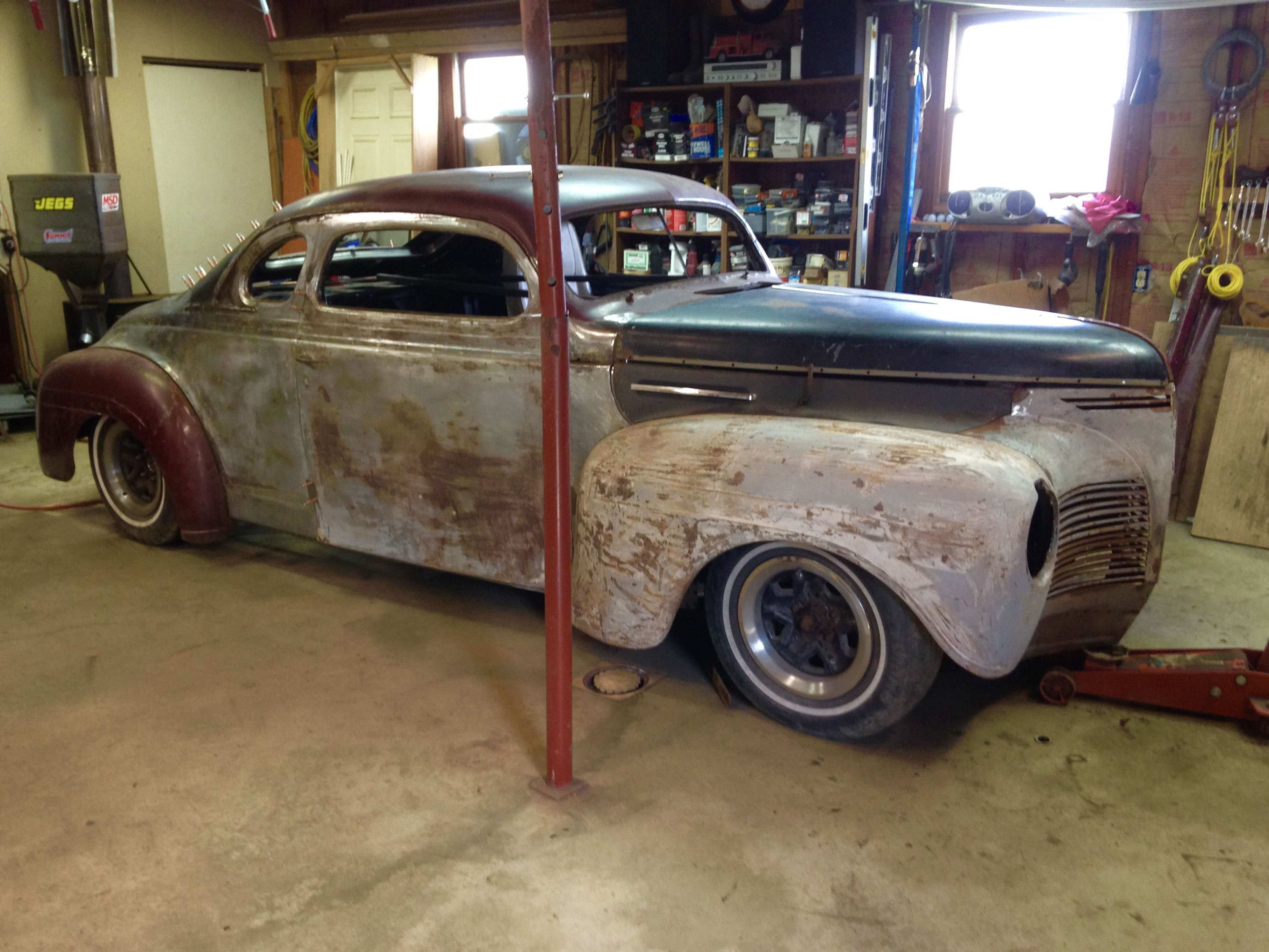 Chopped 1940 Plymouth in progress  S10 pickup frame  LS1