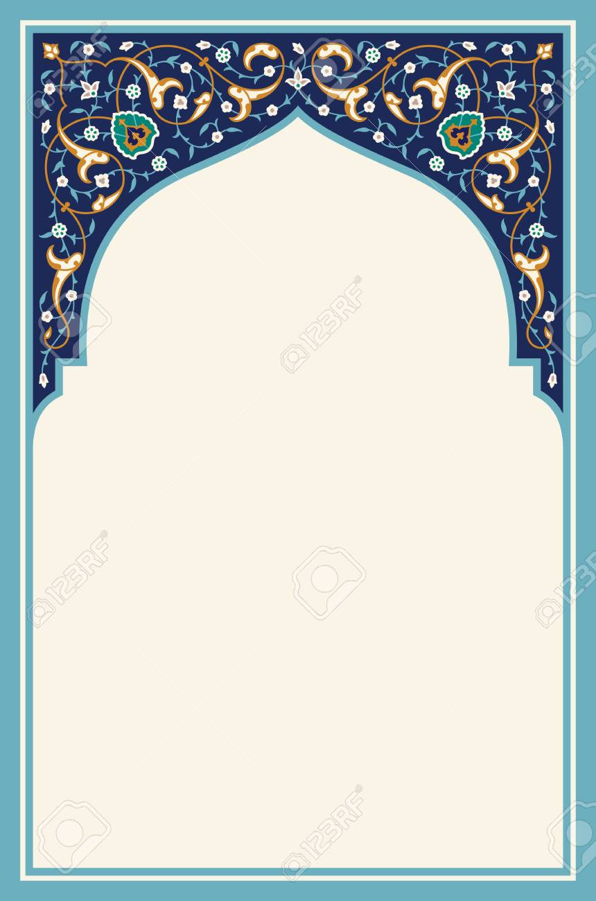 Tatar Traditional Ornamental Floral Arch Oriental Style Turkish Islamic Pattern High Quality Hand Made Vecto Arabic Decor Islamic Art Calligraphy Islamic Art
