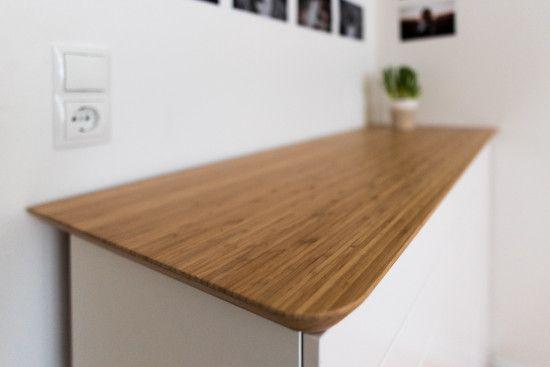 Scandinavian Bamboo Sideboard   IKEA HILVER Tabletop + METOD Kitchen  Cabinets