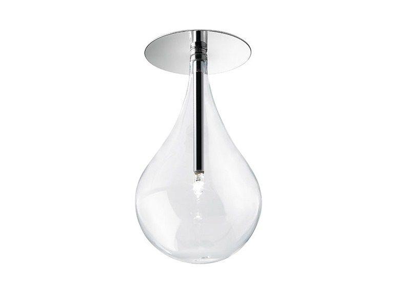 Luminária de teto de vidro Drop downlight, coleção Drop - Alma Light