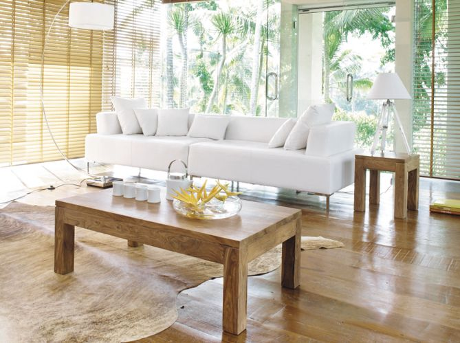 Good Déco Blanche Et Bois Blond / Livingroom In White And Wood : Http://