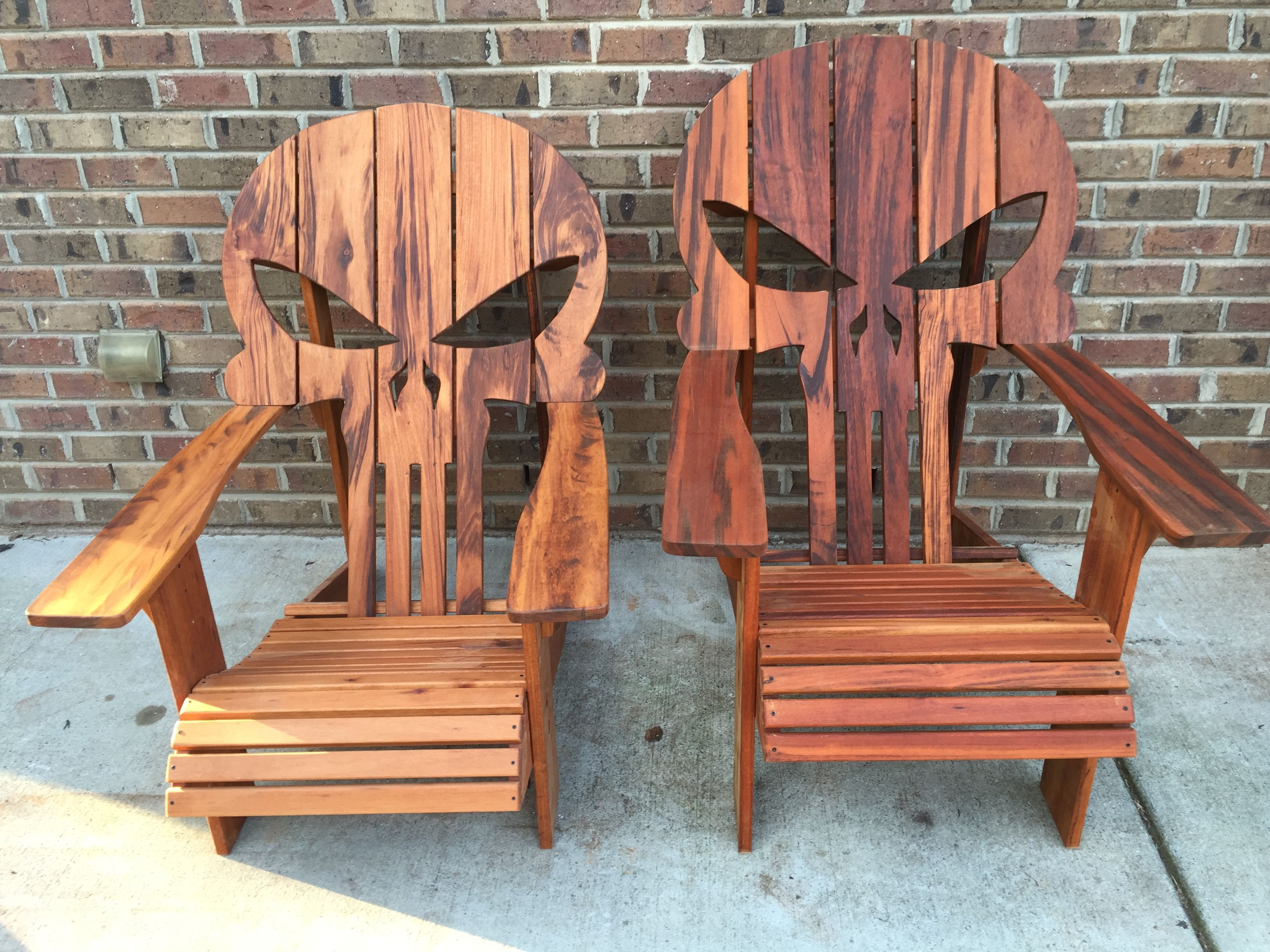 Wooden Skull Chair Summer Infant Classic Comfort Wood High Diy Easy Step By Plans To Build Your Own Punisher