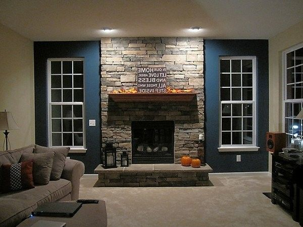 Living Room Ideas With Stone Fireplace natural stone wall in the living room fireplace beige | http