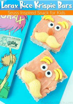 Seuss Snacks: Lorax Inspired Rice Krispie Bars | From ABCs ...