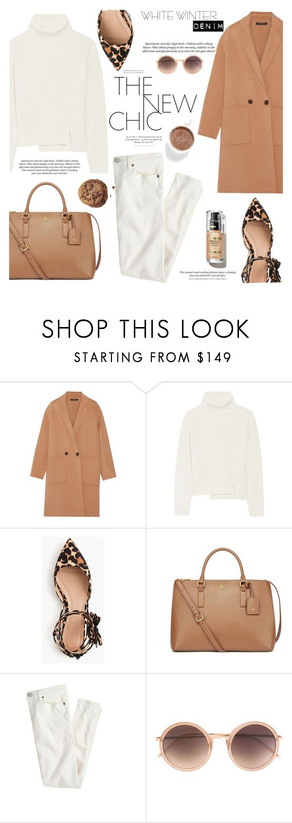 """""""Untitled #310"""" by lily1lol ❤ liked on Polyvore featuring Theory, Proenza Schouler, J.Crew, Tory Burch, H&M, Linda Farrow and winterwhite"""