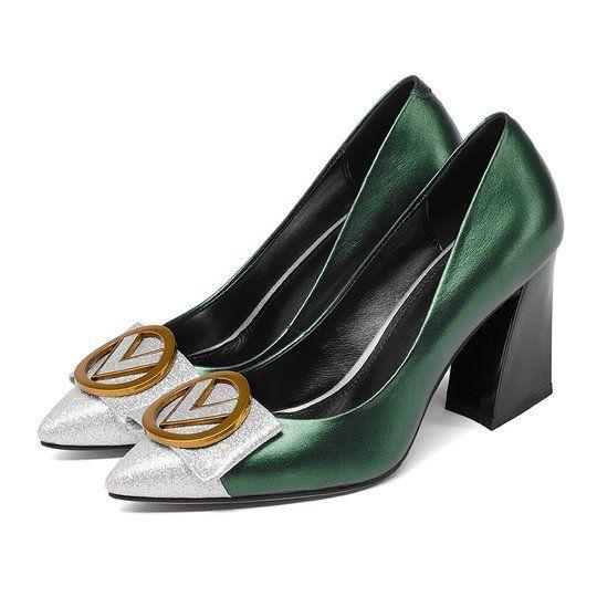 2c11b6d4b5a Stylewe Heels Pointed Toe Color Block Black Elegant Heels