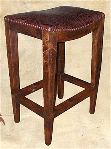 Elegant Rj Chisum Custom Furniture   Barstools   DALLAS, TX Saddle Stool SDL 020
