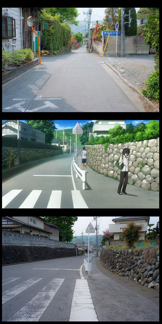 Anime Vs Real Life Anime Vs Real Life Anime City Anime Places