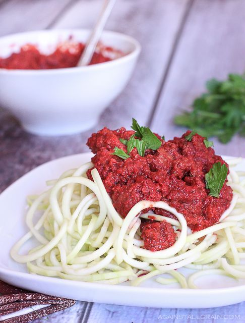 TomatoLess Meat Sauce - Against All Grain - I would just add some lemon juice to make it a little more tangy