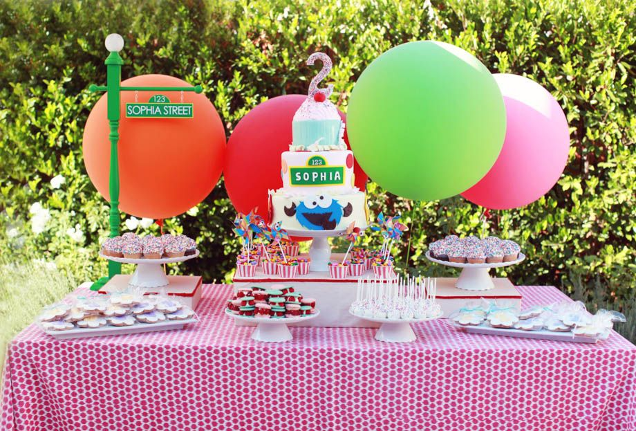 Fancy That Events Cake table for toddlers Sesame Street Birthday
