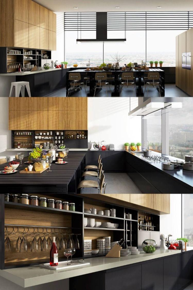 268 Kitchen Dinning Free Sketchup Interior Scene In 2020 Kitchen Dinning Dinning Interior