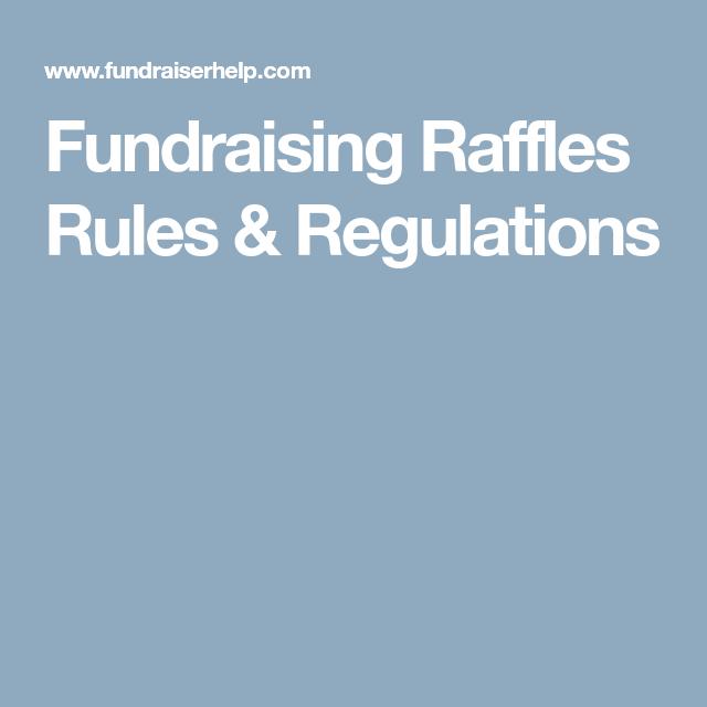 Fundraising Raffles Rules & Regulations | Violins