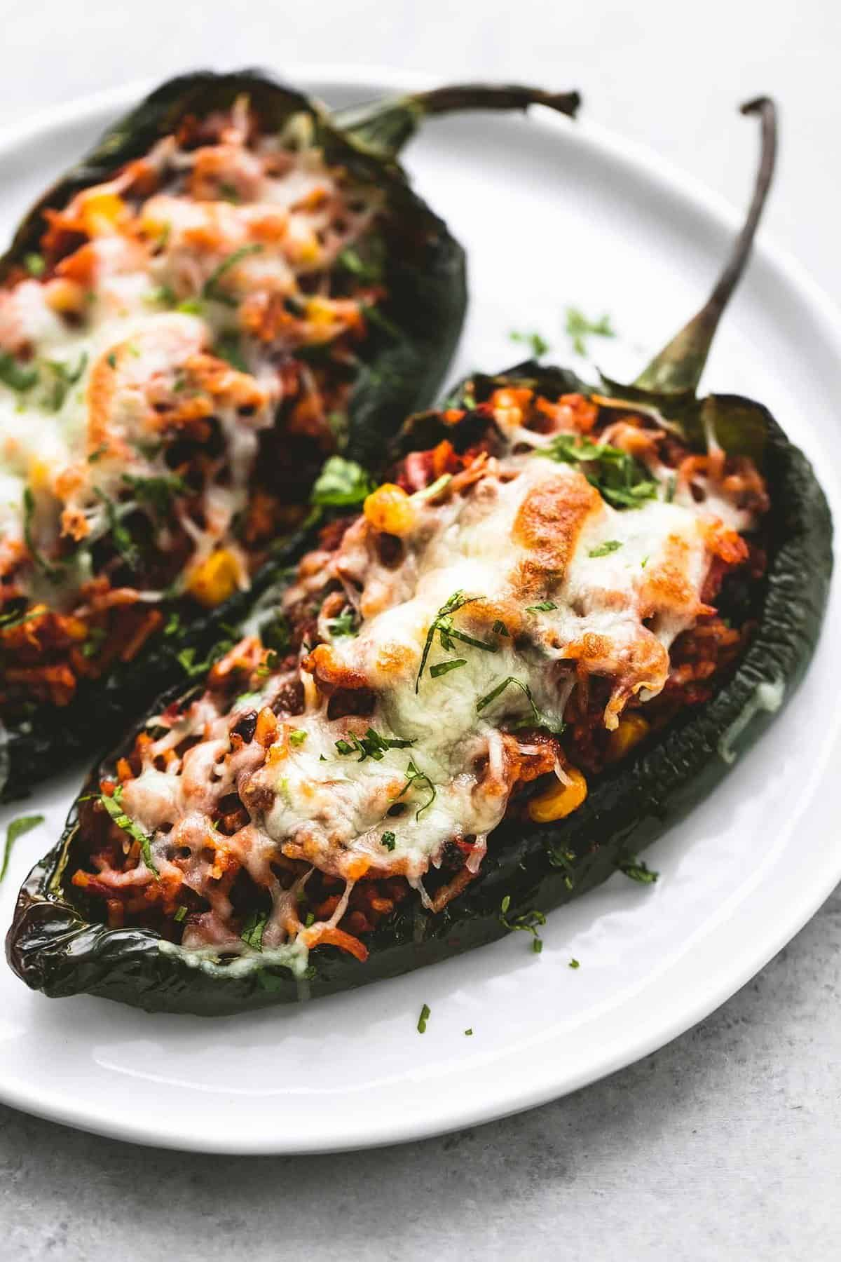 Beef Stuffed Poblano Chiles In 2020 Stuffed Peppers Recipes Peppers Recipes