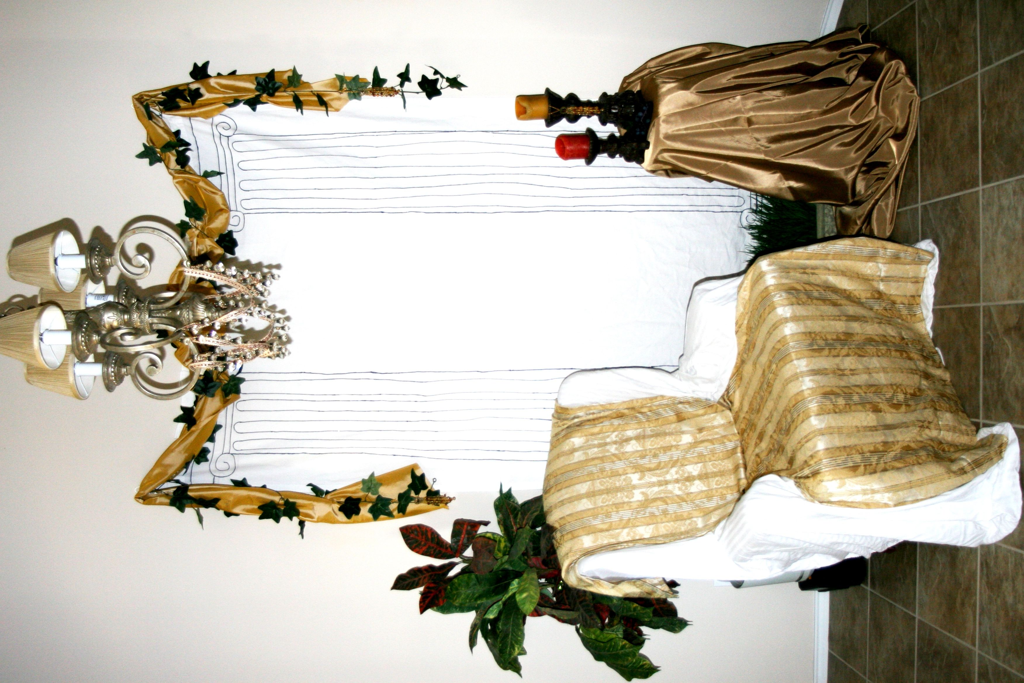 Toga Party Decorations Fun And Simple Photo Booth Idea