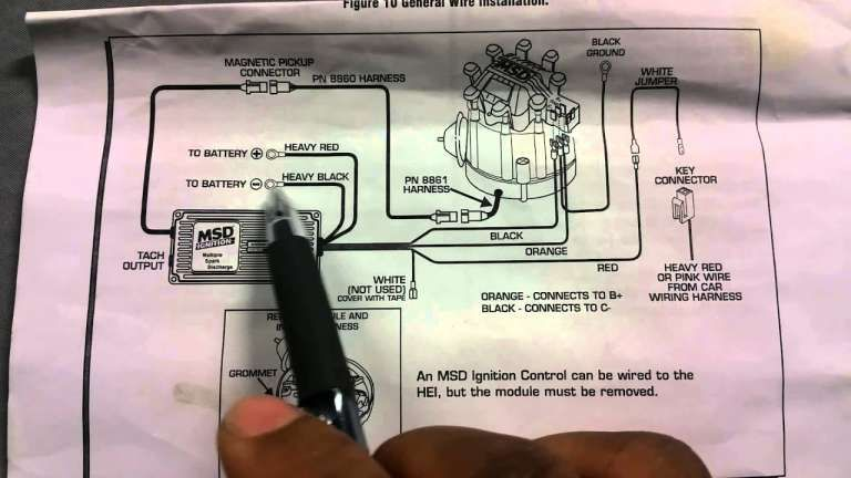 Basic Hot Rod Engine Hei Wiring Diagram And How To Install Msd Al Ignition Box On Hei Msd Hot Rods Rod