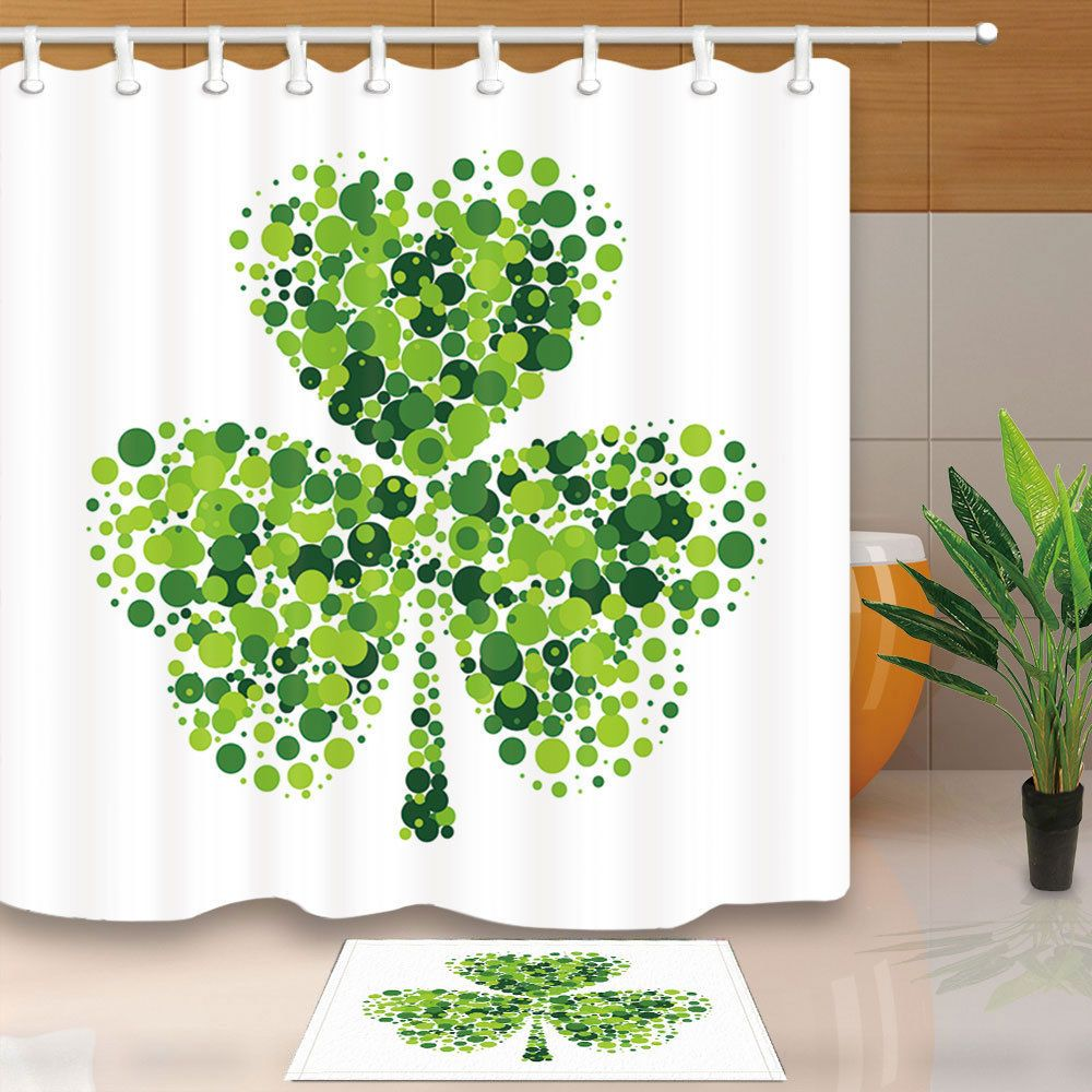 9 99 Shamrock Leaf For Saint Patrick S Day Home Bathroom Fabric
