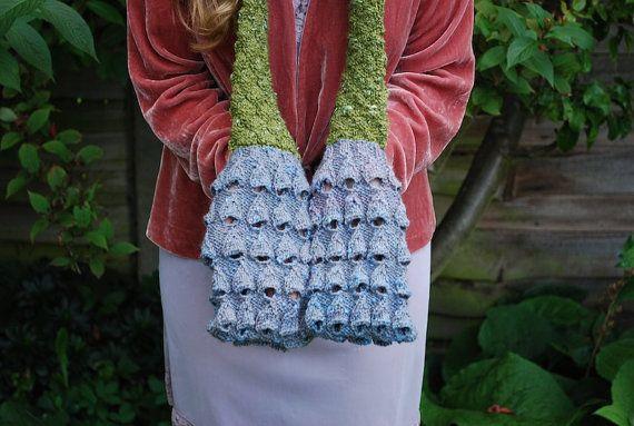 moss and bluebell pocket scarf KNITTING от TinyOwlKnitsPatterns ...