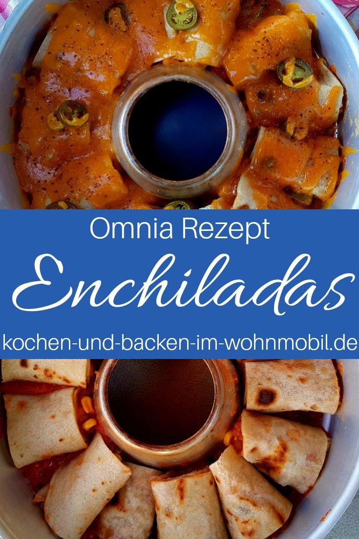 Enchilads mit Cheddar und Jalapenos. Aus dem Omnia Backofen.