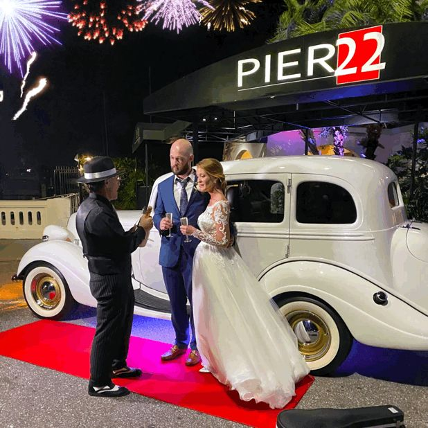Just Imagine, Newlyweds having a Special Champagne Toast before a Grand Exit Spectacular Fireworks Send Off. #oldhollywoodglamour  #oldhollywoodglam  #glamourwedding  #glamourmodels  #hollywoodpartytheme     #redcarpeteventpartyideas  #vintagecarphotoshoot  #vintagecars #bridalcar #promthemes #getawaycar #GatsbyParty #Gatsbywedding #promdress #FloridaStyle #FloridaProm #weddingfireworks  #gatsbyprom #artdecoprom #artdecostyle #CentralFlorida  #July4th #Weddingphotoinspiration #floridaweddings