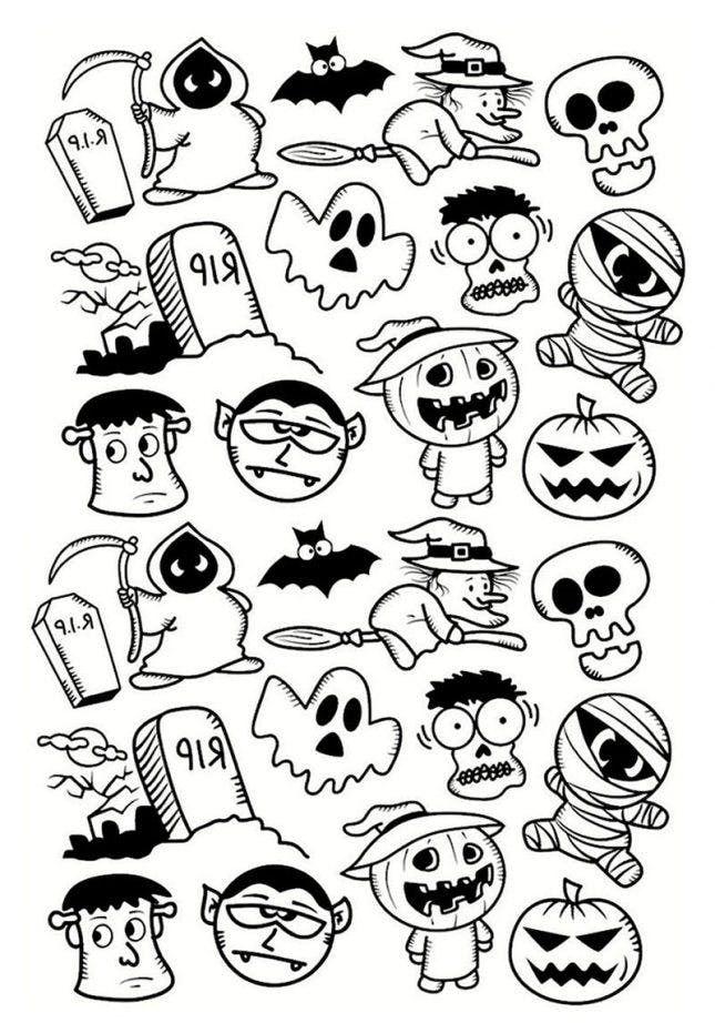 12 halloweenmalvorlagen zum ausdrucken damit kinder und