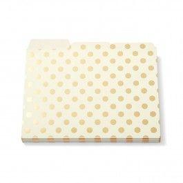 Kate Spade Dots Folder Set $15