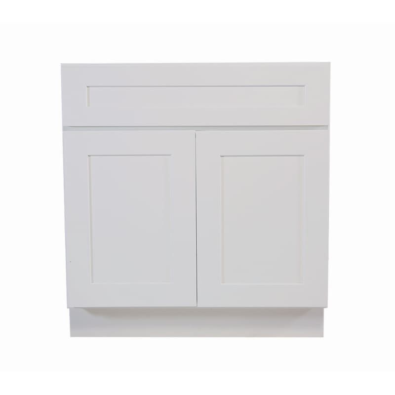 Design House 561472 Brookings 30 Wide X 34 1 2 High Double Door Base Cabinet W White Kitchen Cabinets Base Cabinets 30 Inch Base Cabinets House Design White Kitchen Cabinets