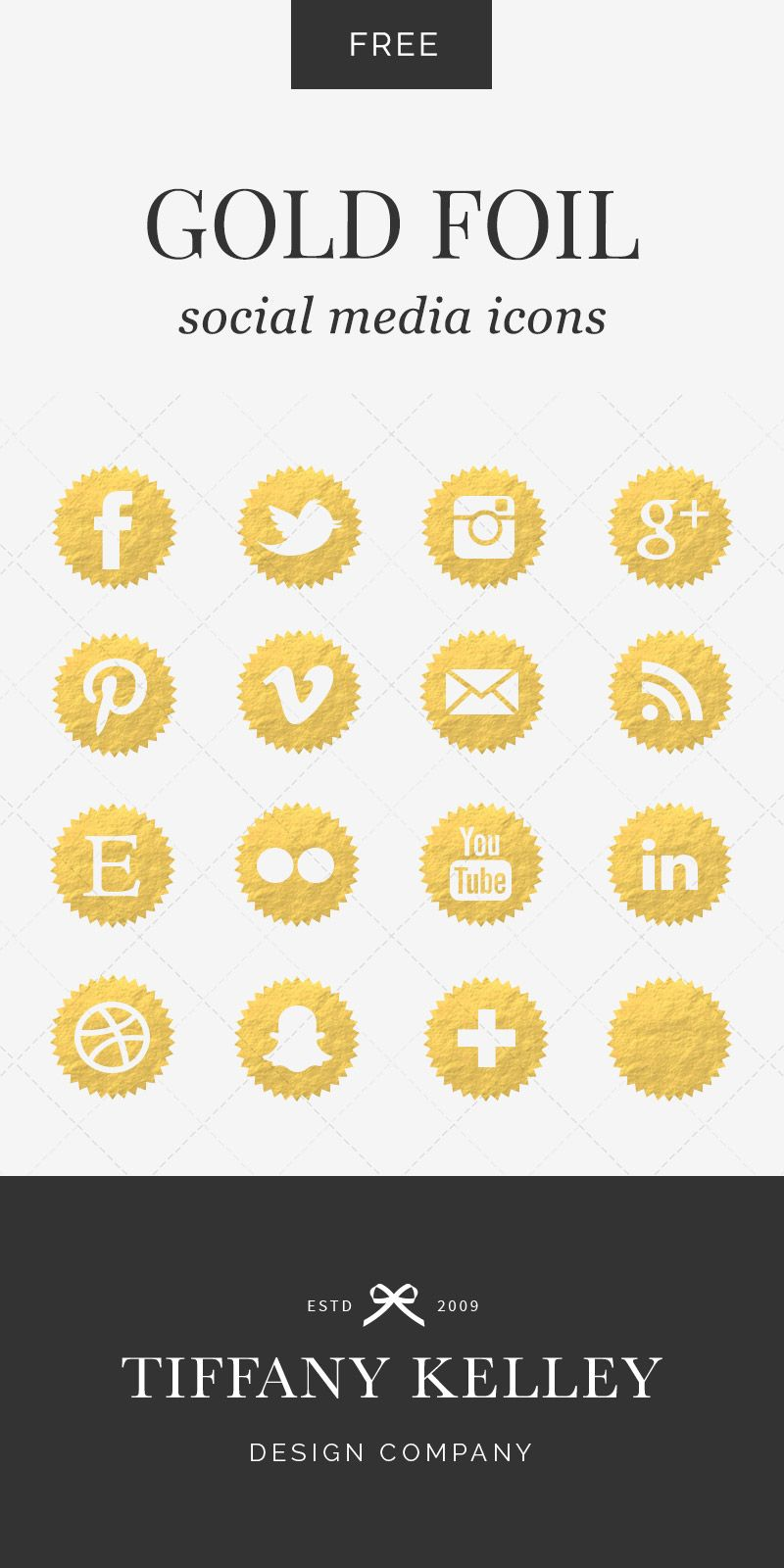 Foil Social Media Icons | Taney Creative | Social media