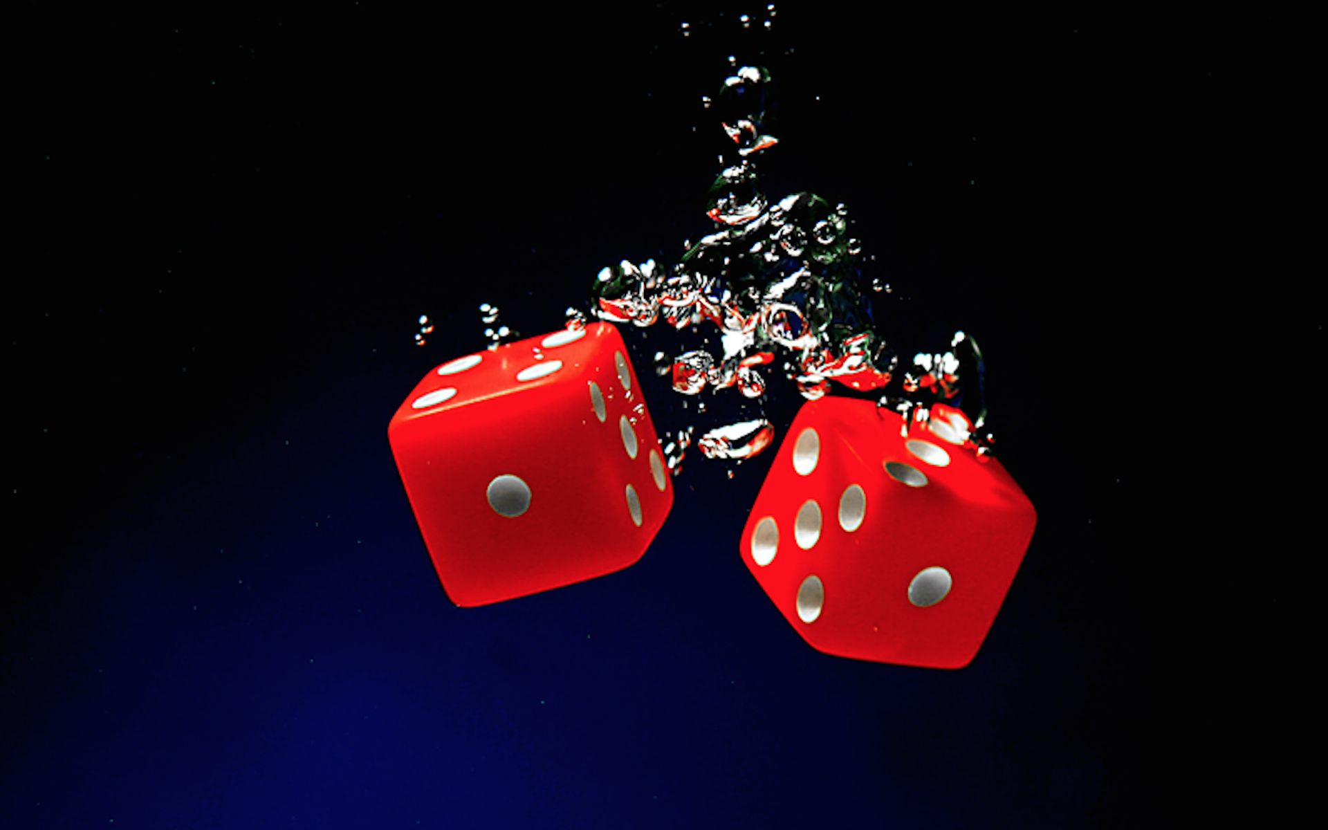 Lucky Red Dice Artwork 3d Wallpaper Abstract