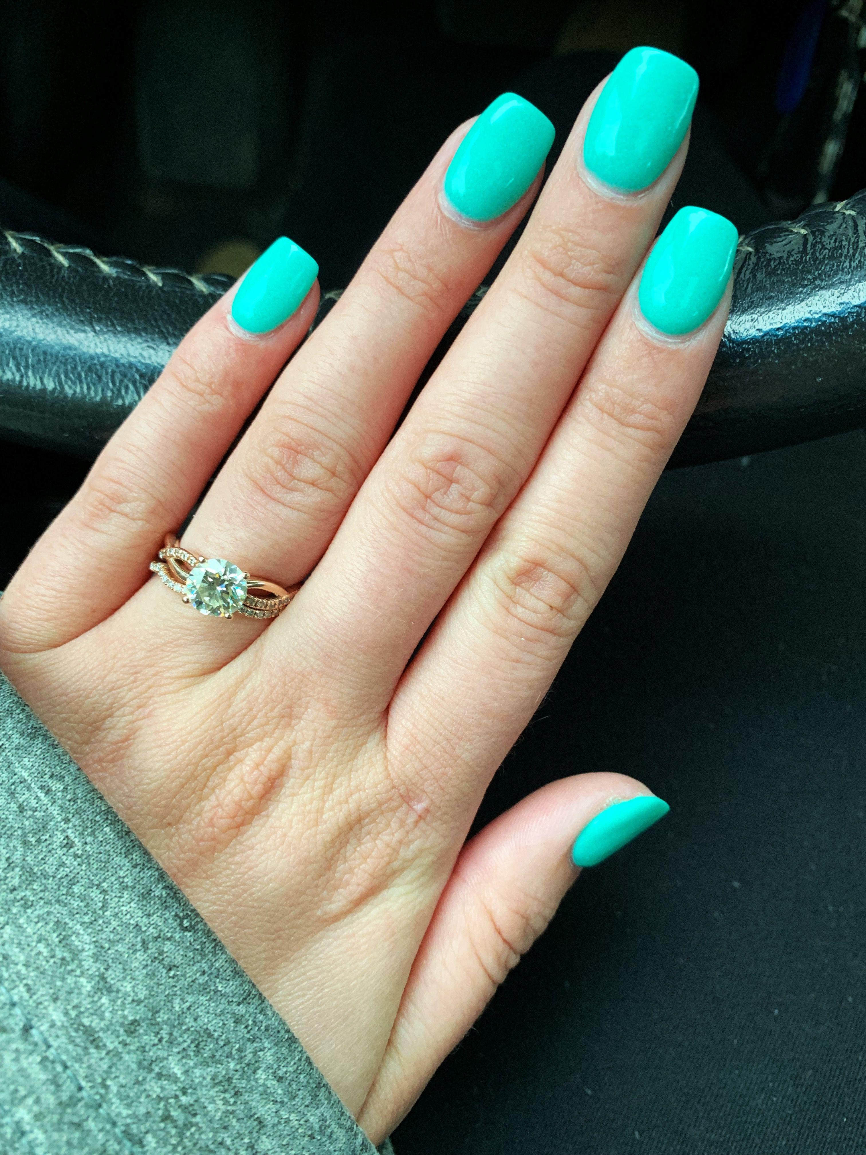 Kiara Sky aqua dip powder gel | Dip powder nails, Nail ...