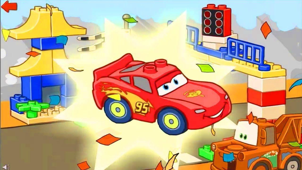 Cars Lightning McQueen Car Games Lego Duplo Cartoon for Kids ...