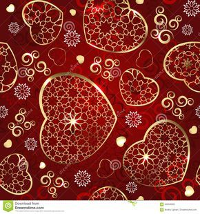 Red And Gold Wedding Background Design