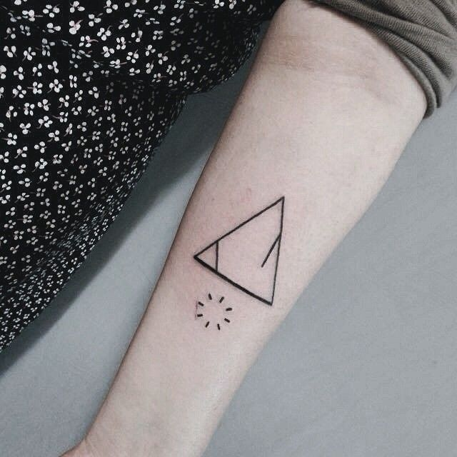 Triangle Tattoos Geometric Tattoos And: 40 Unique Triangle Tattoo Meaning And Designs