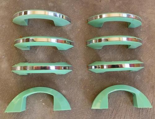 Green Bakelite Chrome 1950s Drawer Cabinet Handles 1950s Kitchen Retro Kitchen Kitchen Handles