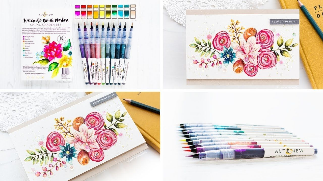 Debby Hughes Altenew Watercolor Brush Markers With Images