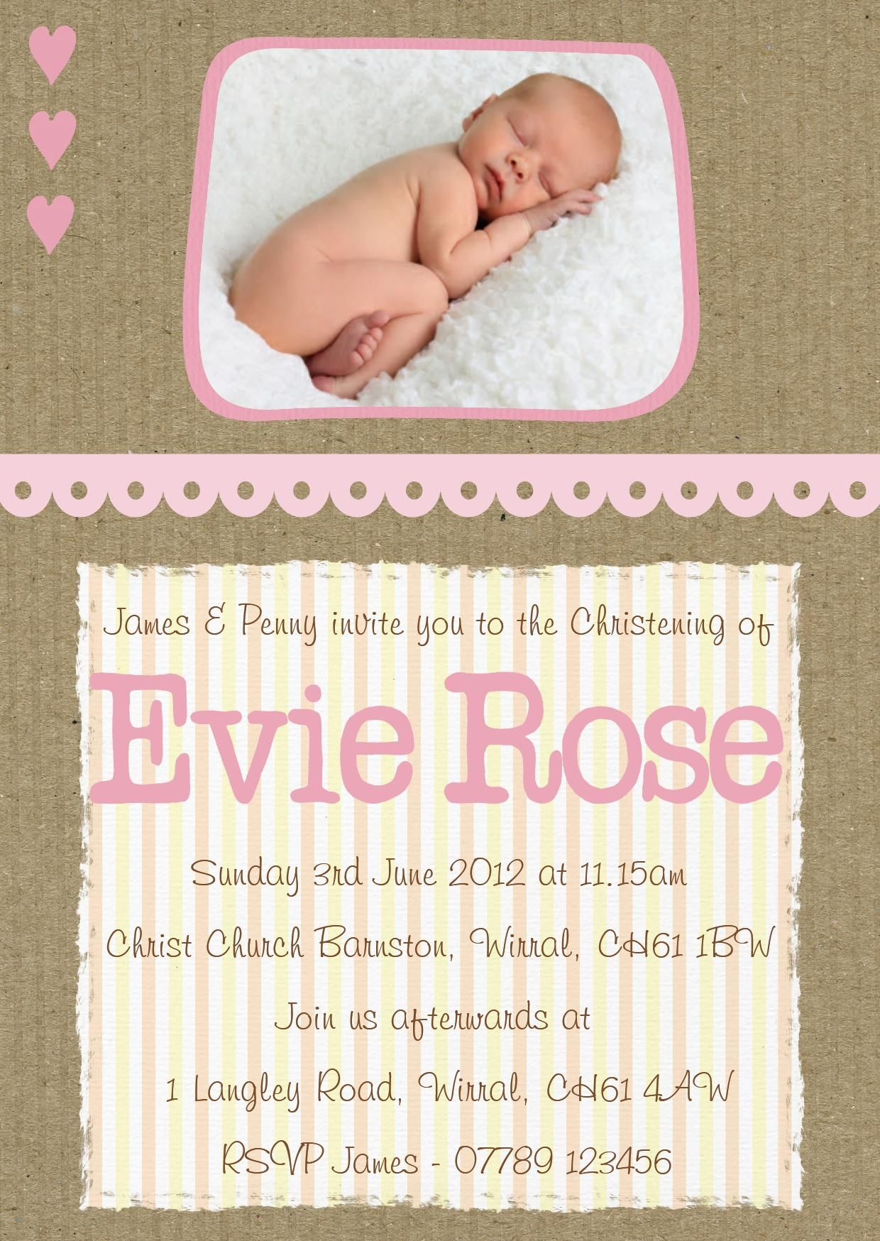 baby-girl-baptism-invitation-templates | baby stuff | Pinterest ...