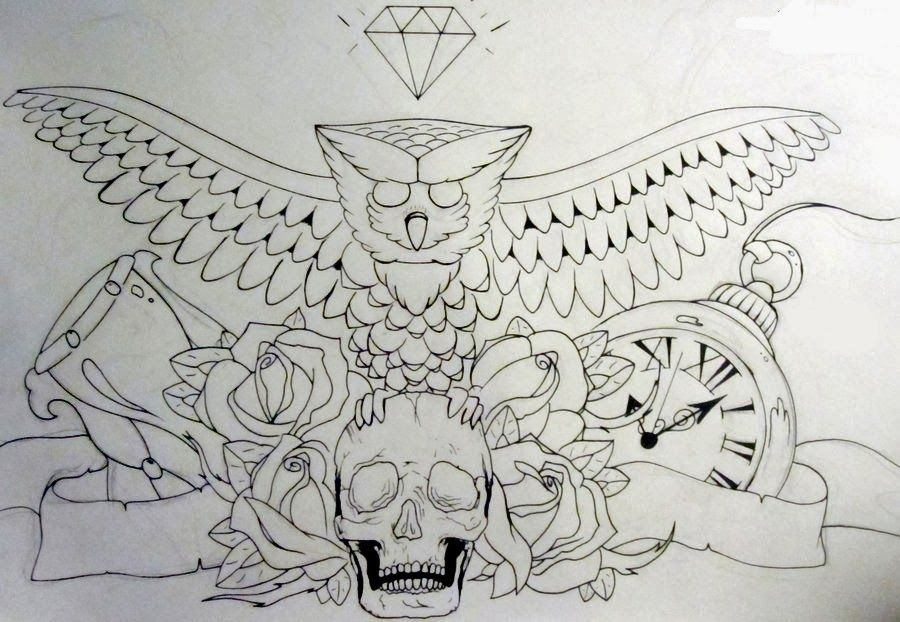 photo about Printable Tattoo Stencil referred to as Tattoos Ebook: Totally free Printable Tattoo Stencils: Owl tattoo