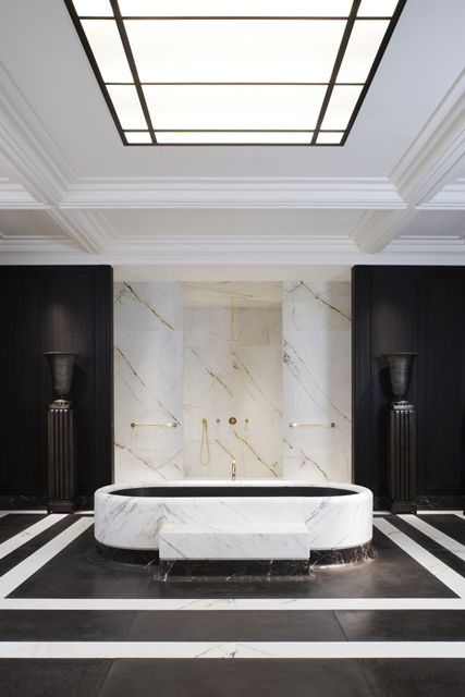 MAHARAJAH BATHROOM DESIGNED BY JOSPEH DIRAND FOR LOUIS VUITTON FEATURED AT AD INTERIEURS 2012 [ARCHITECTURAL DIGEST, FRANCE] PRESENTED BY ARTCURIAL / PHOTOGRAPHED BY ADRIEN DIRAND #luxurybathroom