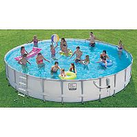24 Ft Proseriesâ Frame Pool Set With Mosaic Print Original Price 699 00 Sam S Club Pool Pool Accessories Water Fun