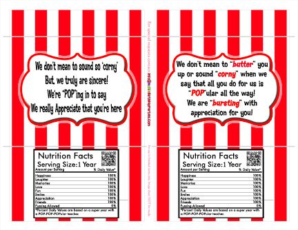 FREE teacher appreciation popcorn sleeves | Our FREE bies ...