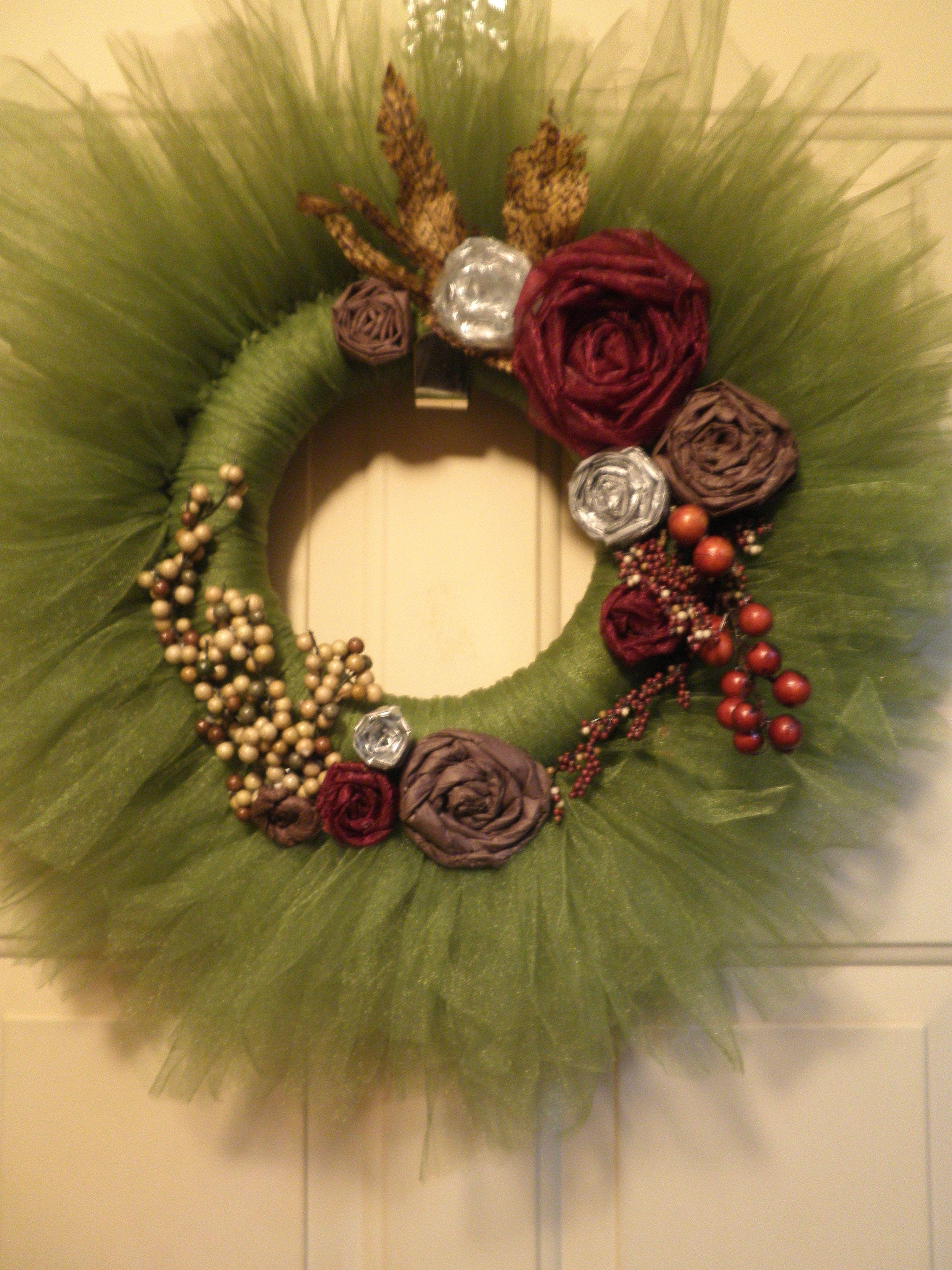 Yarn Wreath Ideas