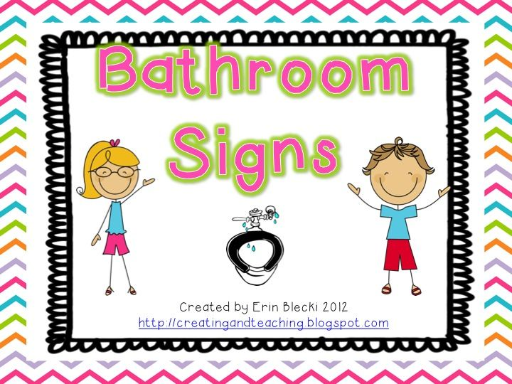 Bathroom Signs Spanish creating & teaching: bathroom signs--free | boy beginning of the