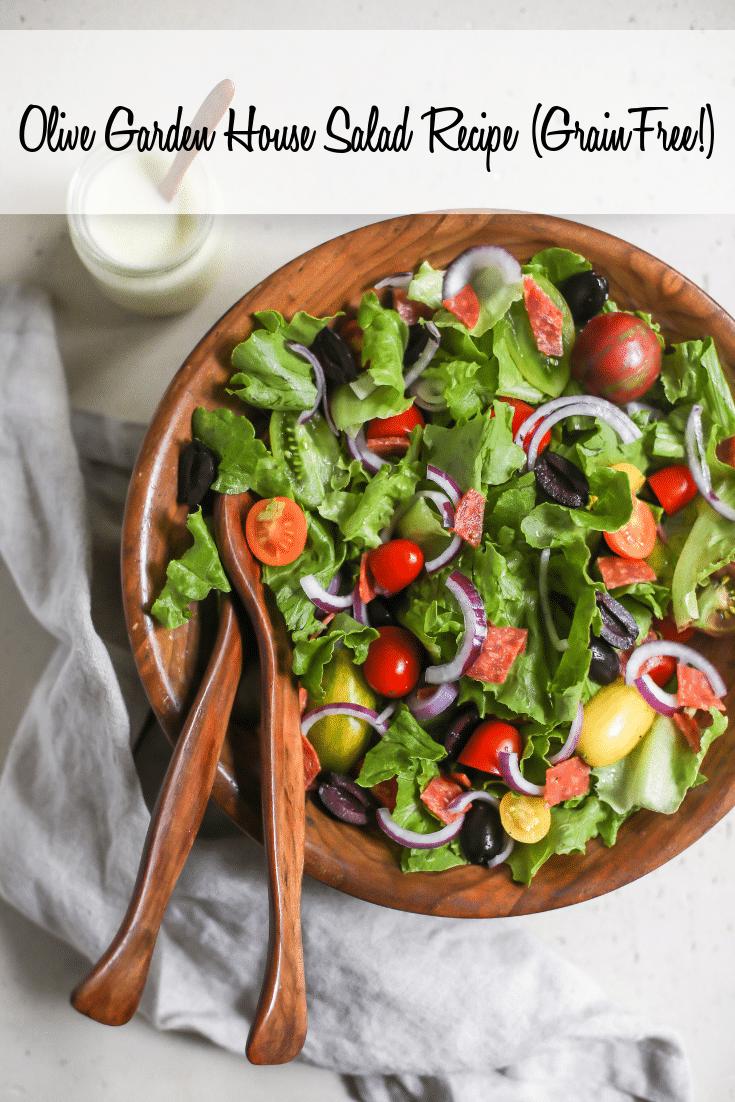 Copycat Olive Garden Salad Recipe (GrainFree) Recipe