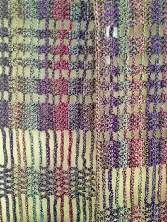Lilac beaded crochet echarpe | Pinterest | Ganchillo con cuentas ...