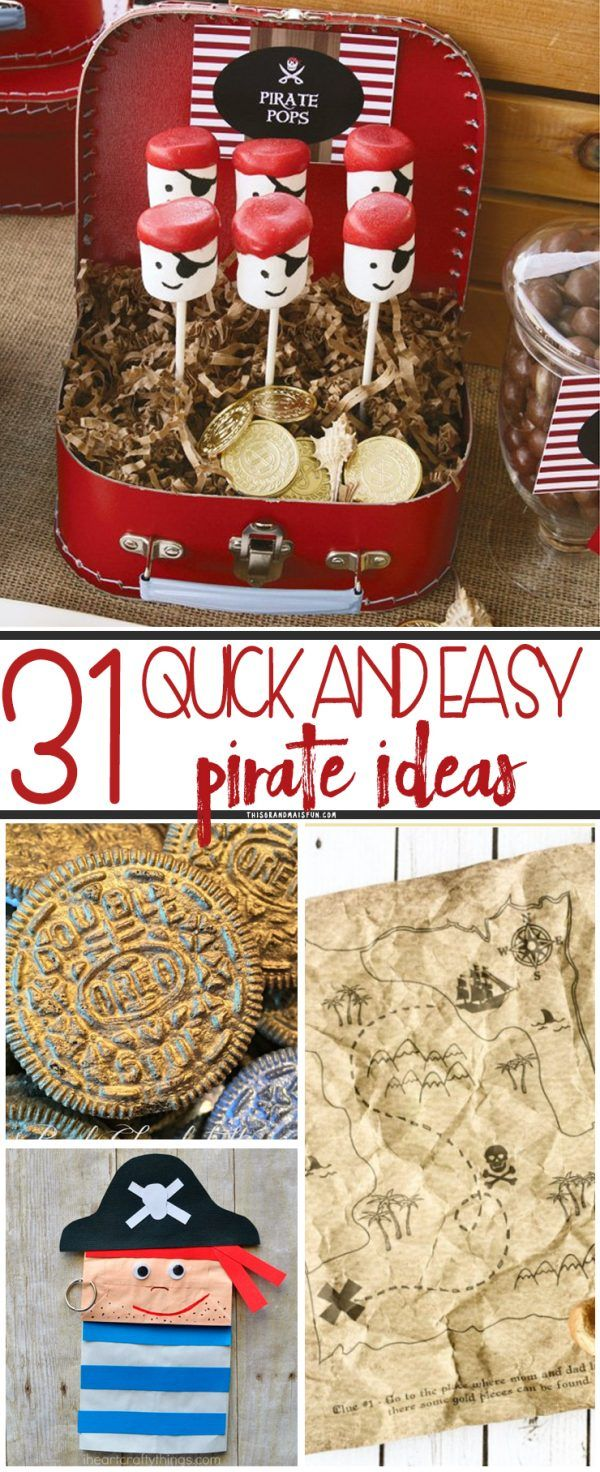 31 Easy Pirate Ideas Pirate party games, Pirate kids