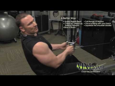 Seated Row Exercise instructional video Vimtrim personal training company.  For more information about Vimtrim personal training services click this link. https://vimtrim.com/ #workout #fitness #vimtrim #seatedrow #personaltrainer #exercise